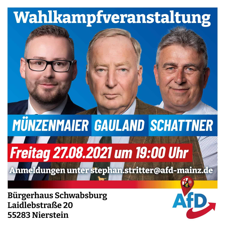Wahlkampfveranstaltung - Münzenmaier, Gauland, Schattner