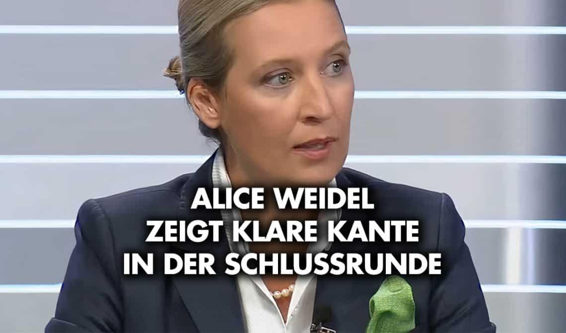 Alice Weidel - ARD Schlussrunde