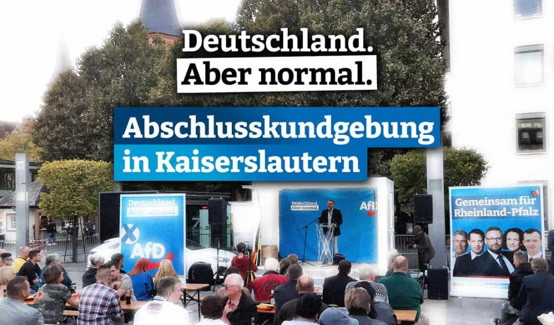 AfD-Wahlkampfabschlusskundgebung in Kaiserslautern