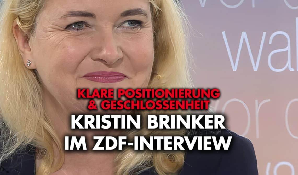Kristin Brinker im ZDF-Interview: Klare Positionierungen & Geschlossenheit