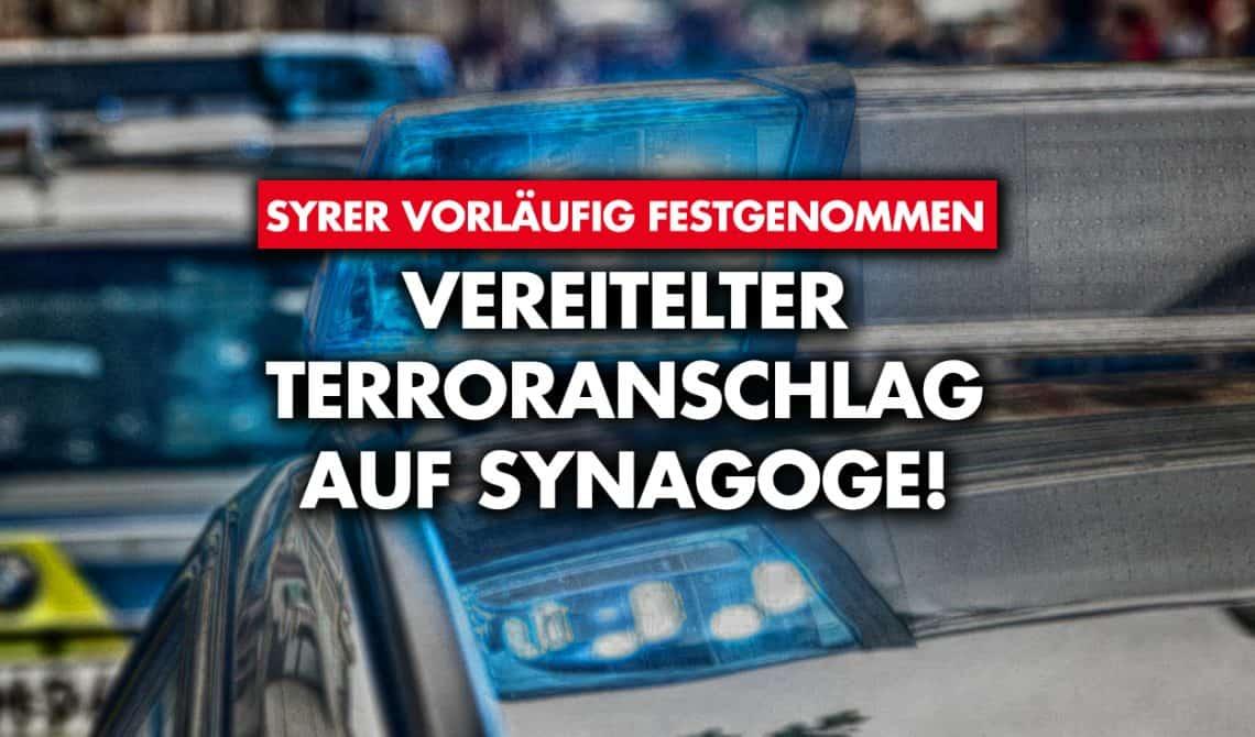 Vereitelter Terroranschlag auf Synagoge
