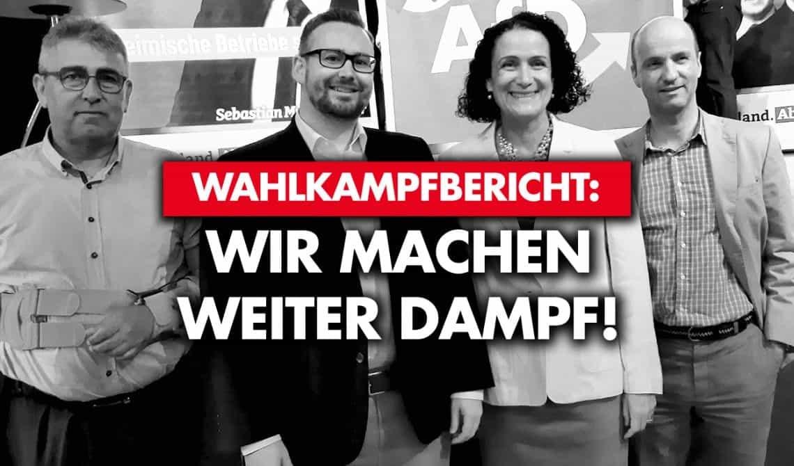 Wahlkampfbericht: Wir machen weiter Dampf!