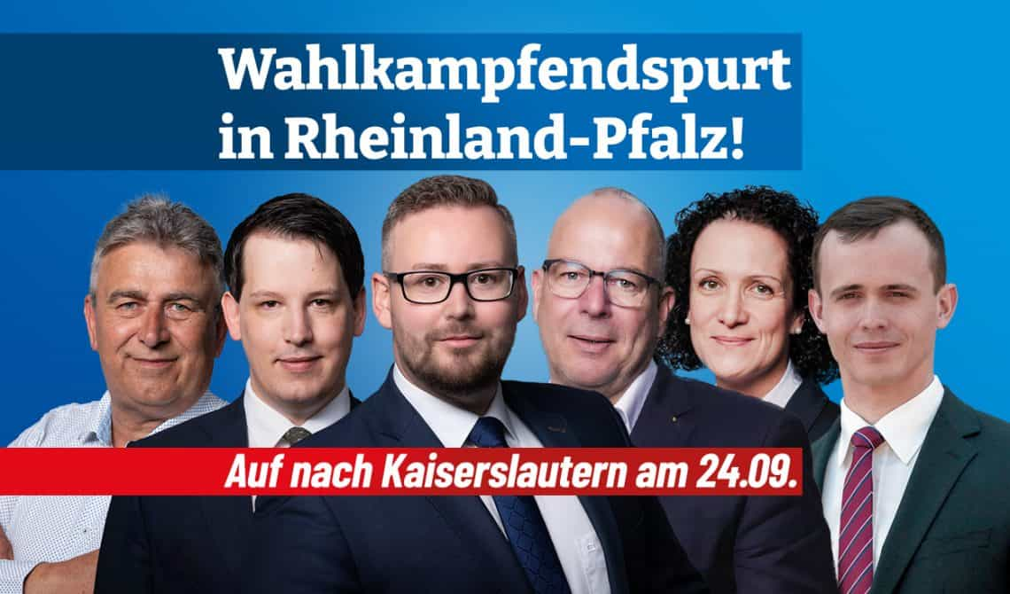 Wahlkampfendspurt in Rheinland-Pfalz: Auf nach Kaiserslautern!