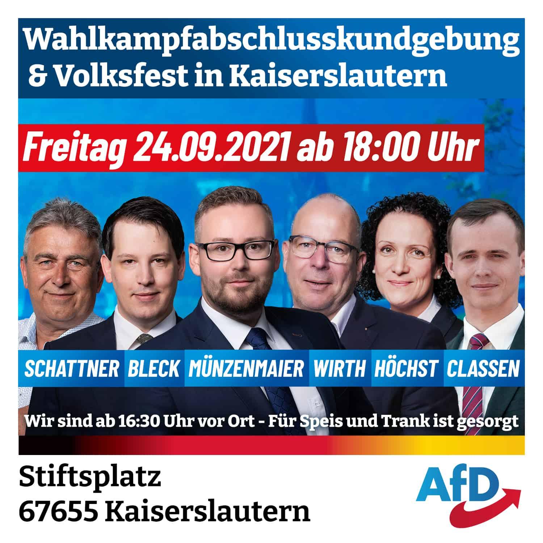 Wahlkampfabschlusskundgebung und Volksfest in Kaiserslautern