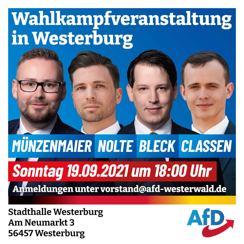 AfD Veranstaltung in Westerburg
