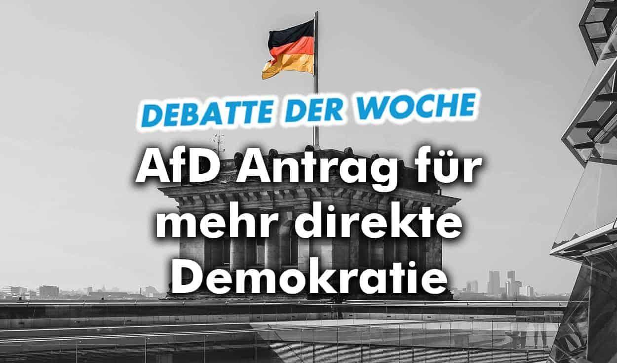Debatte der Woche: AfD im Bundestag für mehr direkte Demokratie