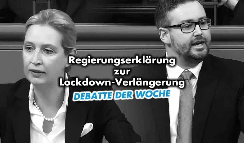 Debatte der Woche: Regierungserklärung zur Lockdown-Verlängerung