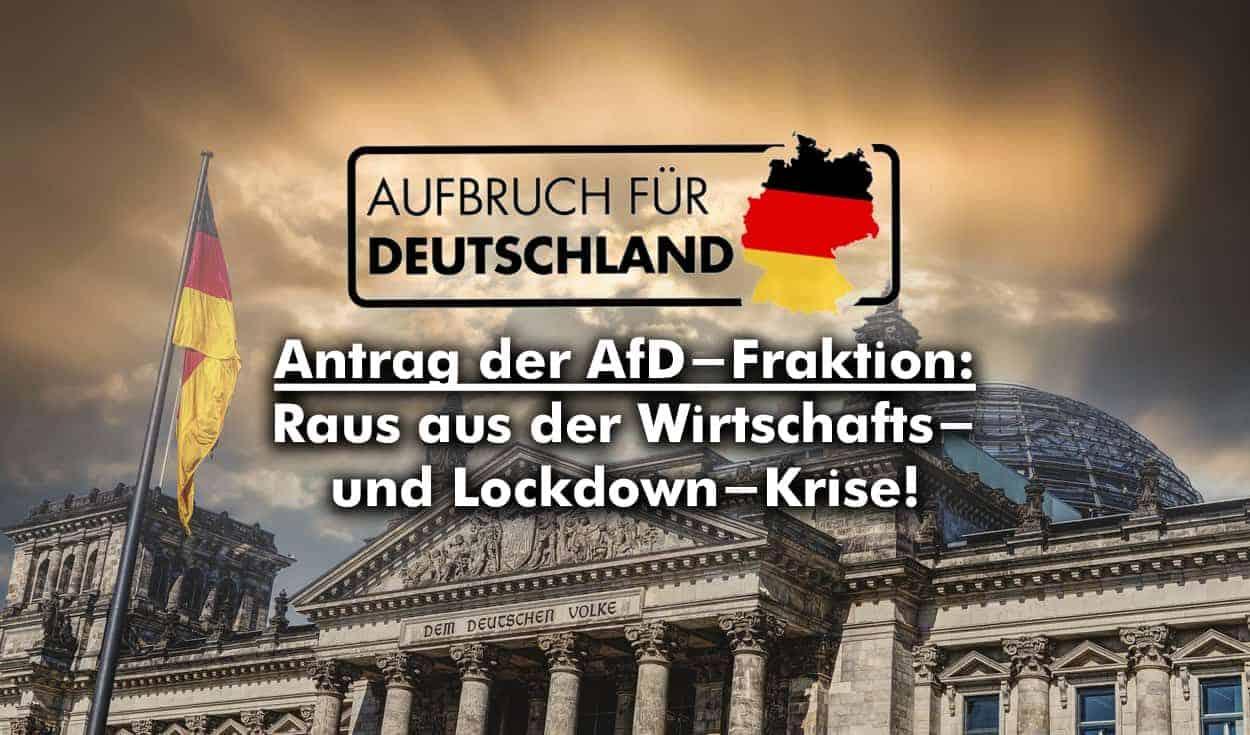 Aufbruch für Deutschland – Raus aus der Wirtschafts- und Lockdown-Krise