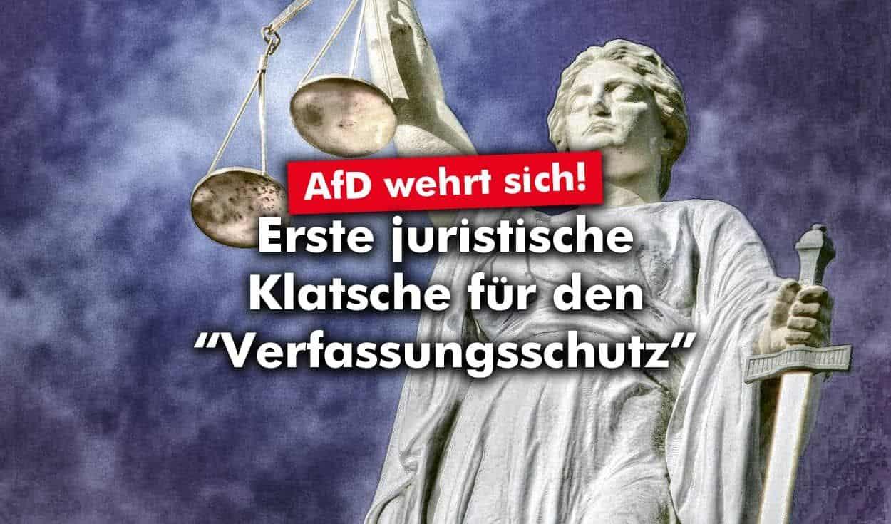 """AfD: Erste juristische Klatsche gegen den """"Verfassungsschutz"""""""