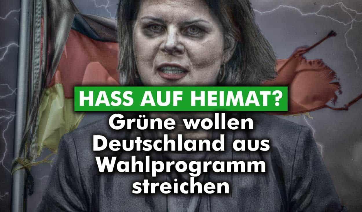 Hass auf Heimat? Grüne wollen Deutschland aus Wahlprogramm streichen