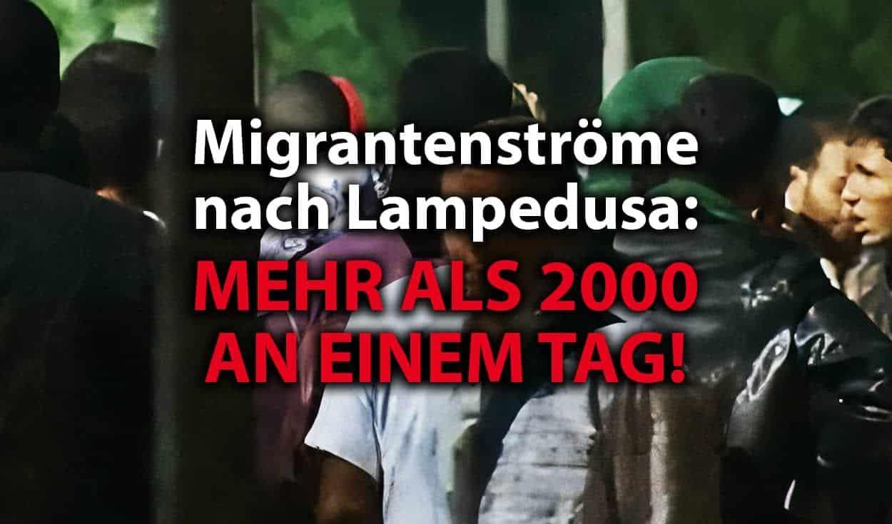Neue Migrantenströme nach Italien: mehr als 2000 an einem Tag!