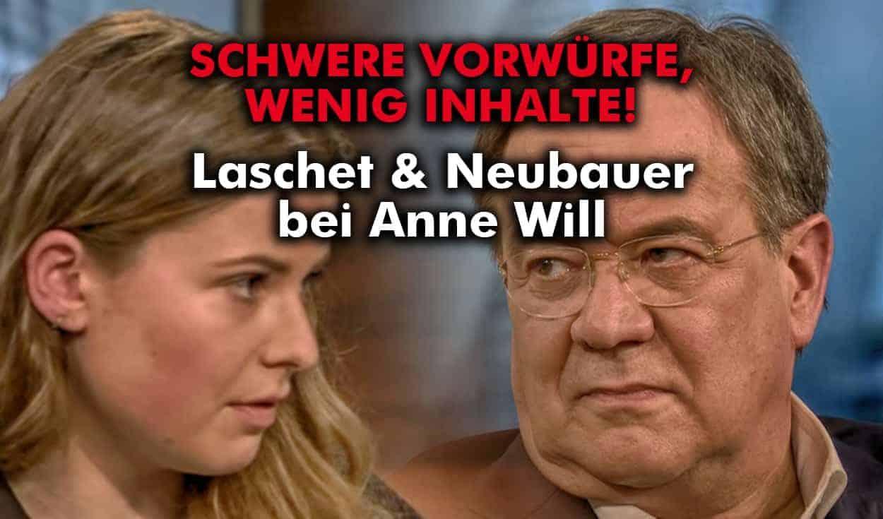 TV-Bericht: Laschet und Neubauer in der Sendung von Anne Will