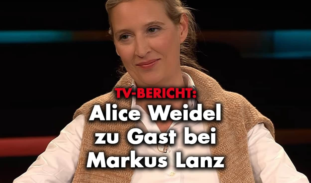 TV-Bericht: Dr. Alice Weidel zu Gast bei Markus Lanz