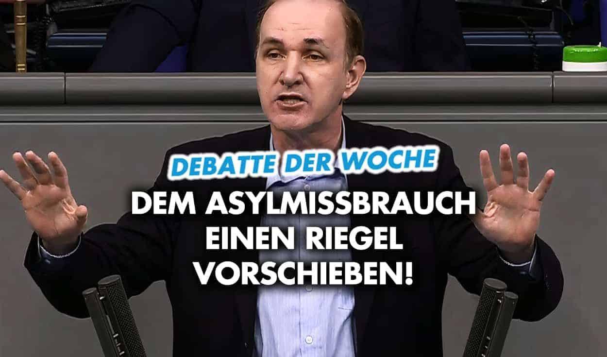 AfD im Bundestag: Dem Asylmissbrauch einen Riegel vorschieben