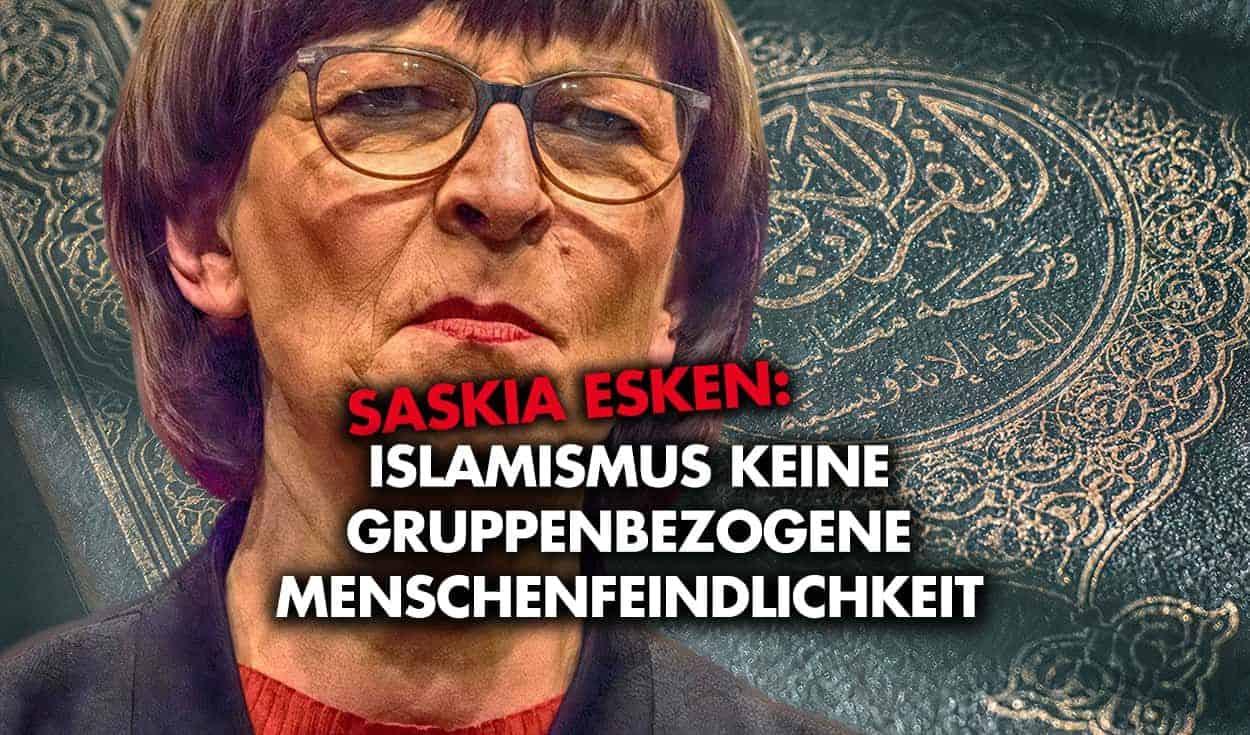 Saskia Esken: Islamismus keine gruppenbezogene Menschenfeindlichkeit