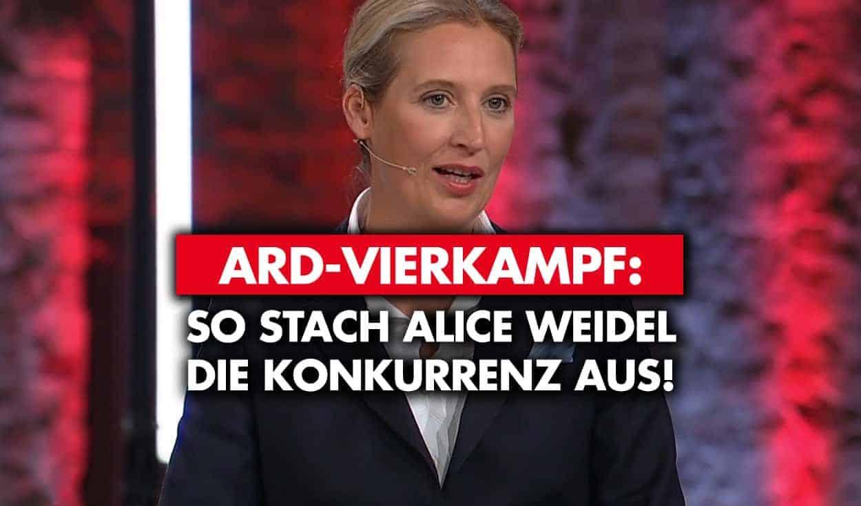 ARD-Vierkampf: Weidel sticht Konkurrenz aus