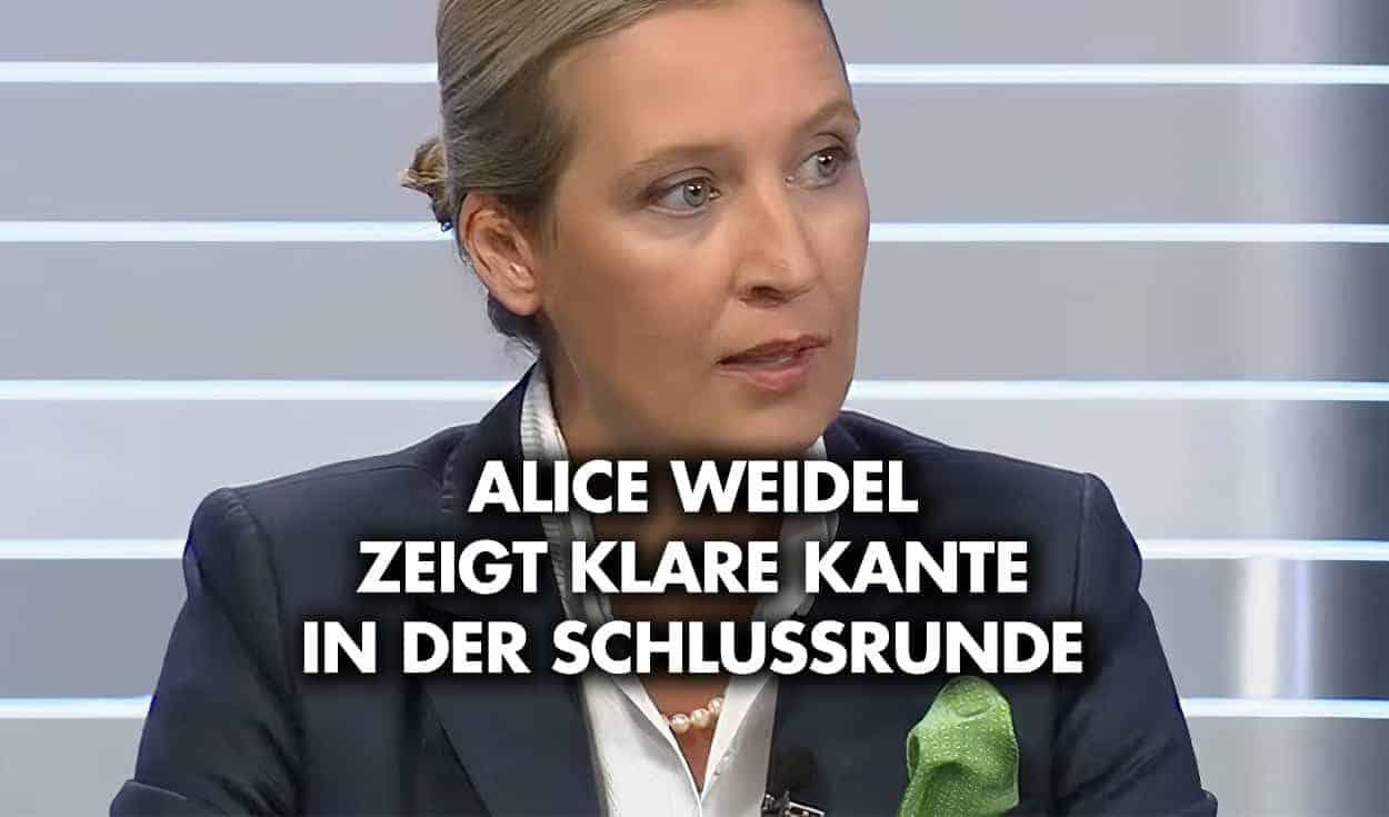TV-Bericht: Alice Weidel zeigt klare Kante in der Schlussrunde